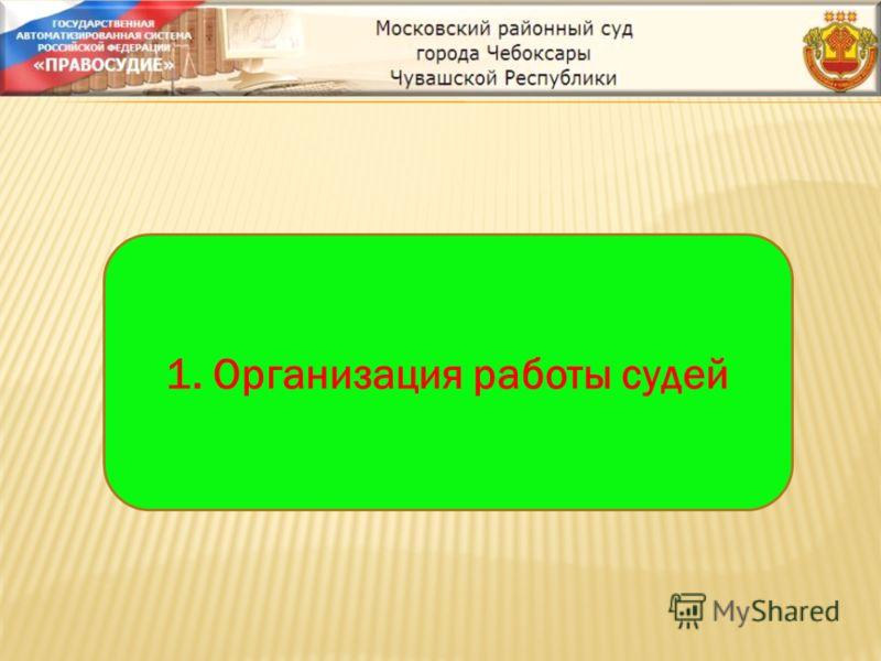 1. Организация работы судей
