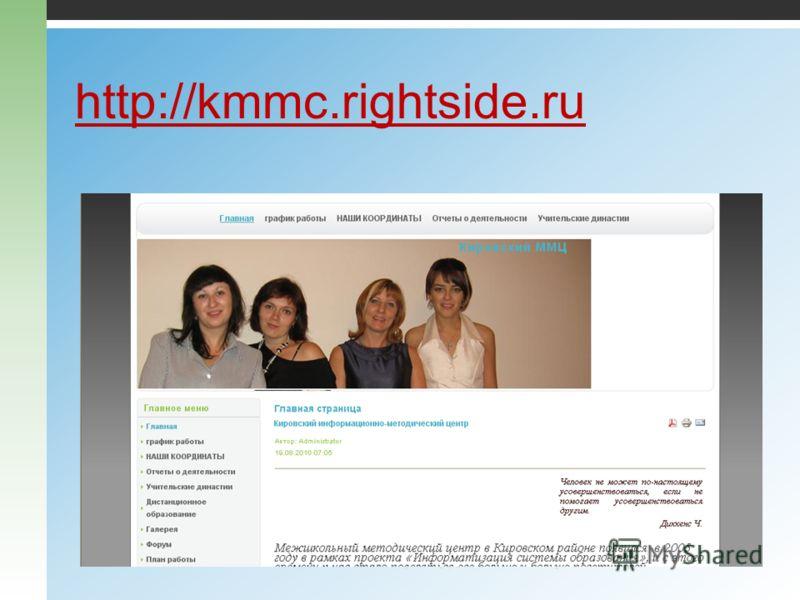 http://kmmc.rightside.ru 22.09.2010ММЦ Свердловского и Кировского районов