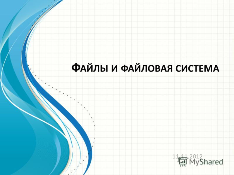Ф АЙЛЫ И ФАЙЛОВАЯ СИСТЕМА 11.11.2012