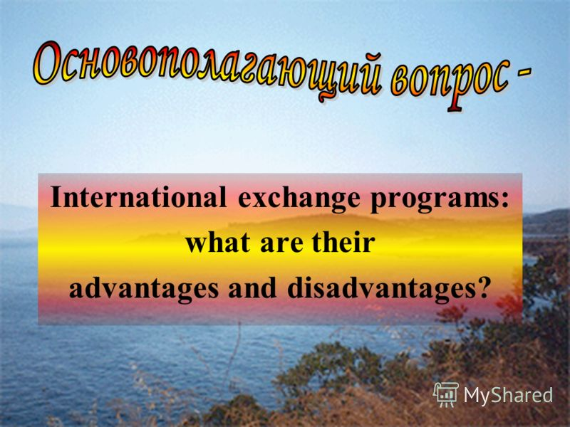 International exchange programs: what are their advantages and disadvantages?