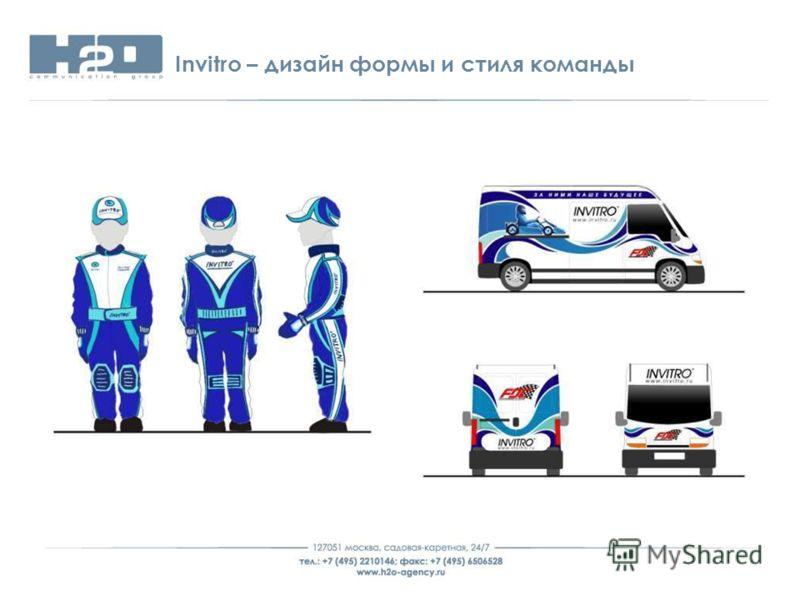 Invitro – дизайн формы и стиля команды