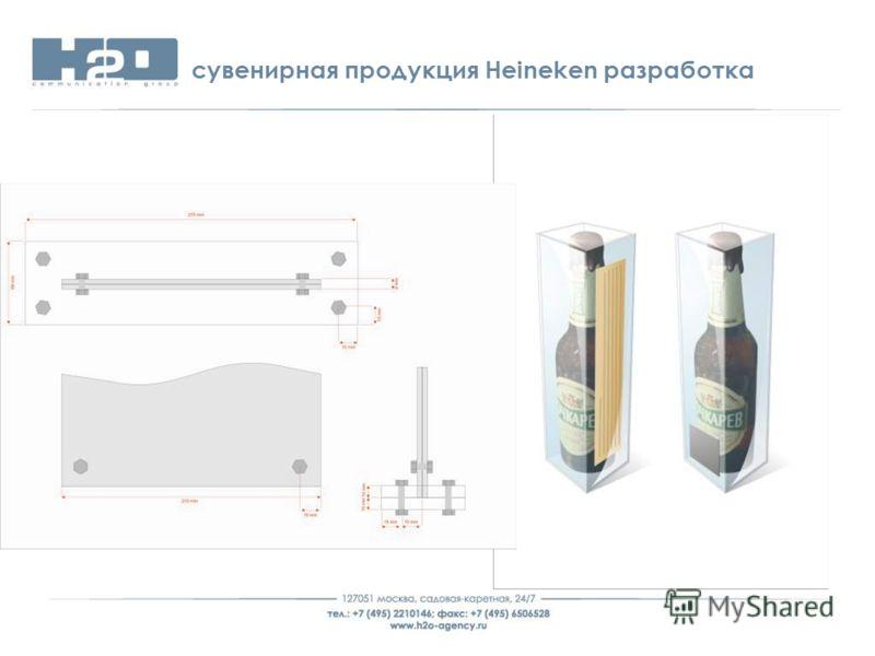 сувенирная продукция Heineken разработка