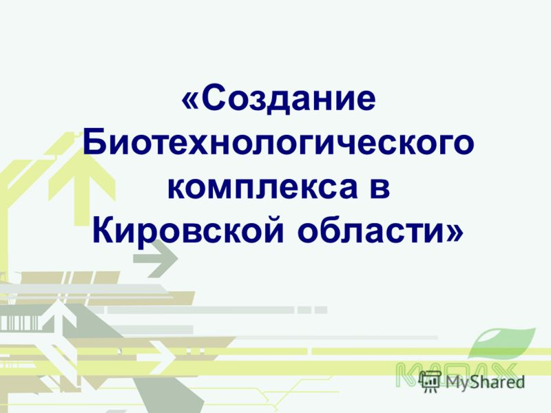«Создание Биотехнологического комплекса в Кировской области»
