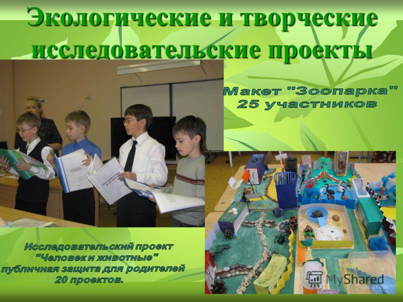 Экологические и творческие исследовательские проекты