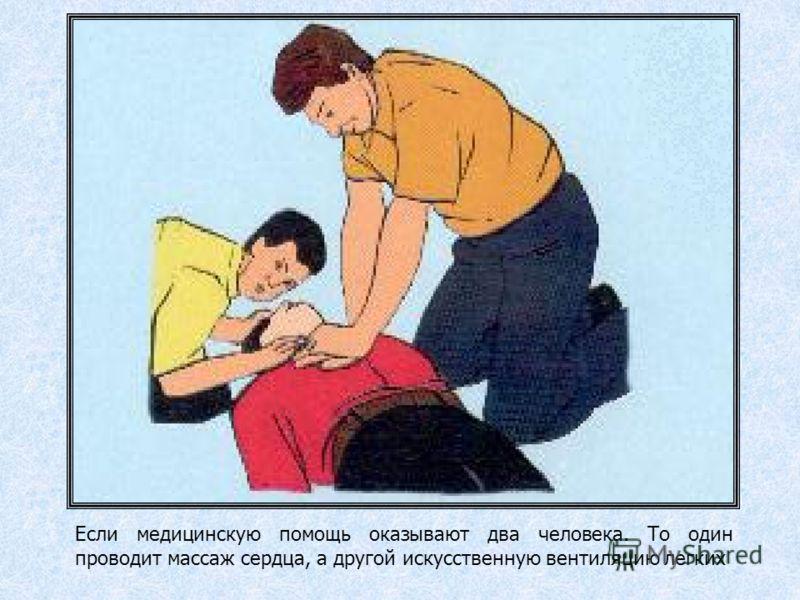 1.Больного уложить на твердую поверхность 2.При давлении на грудину (она прогибается на 3-5 см) сердце сжимается между грудиной и позвоночником: из него выталкивается кровь 3.После прекращения давления сердце вновь заполняется кровью 4.Частота сжатия