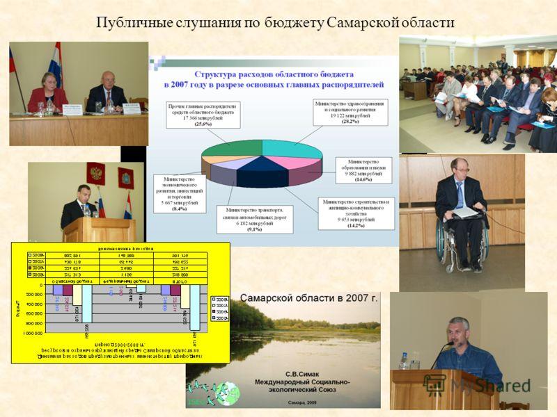 Публичные слушания по бюджету Самарской области