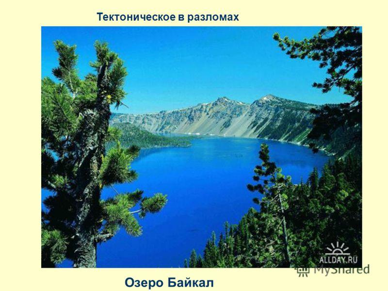 Тектоническое в разломах Озеро Байкал