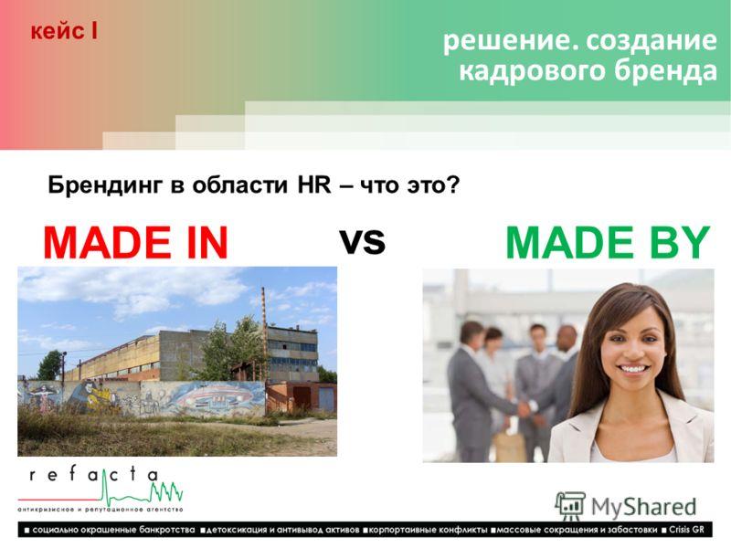решение. создание кадрового бренда кейс I Брендинг в области HR – что это? MADE INMADE BY vs