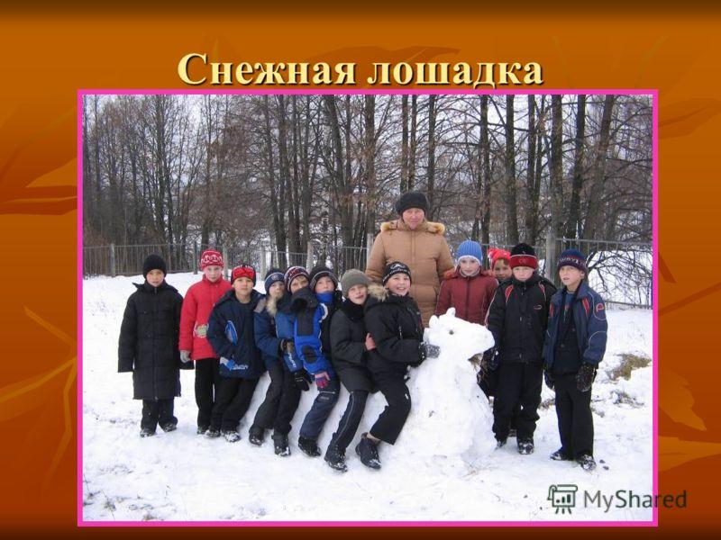 Снежная лошадка