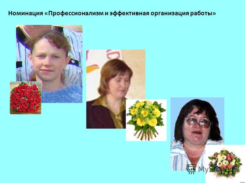 Номинация «Профессионализм и эффективная организация работы»