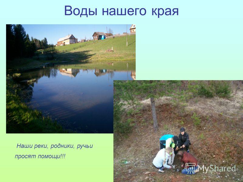 Воды нашего края Наши реки, родники, ручьи просят помощи!!!
