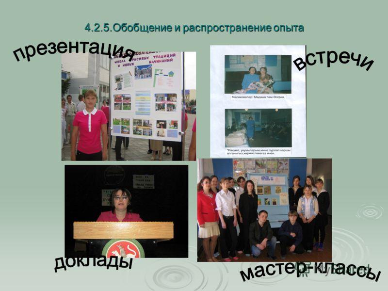 4.2.5.Обобщение и распространение опыта