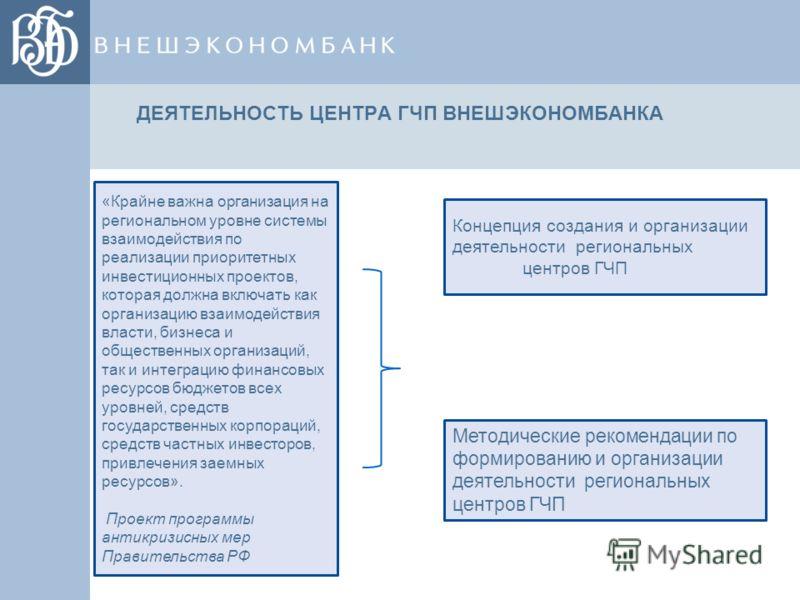 Х \ Концепция создания и организации деятельности региональных центров ГЧП Методические рекомендации по формированию и организации деятельности региональных центров ГЧП «Крайне важна организация на региональном уровне системы взаимодействия по реализ