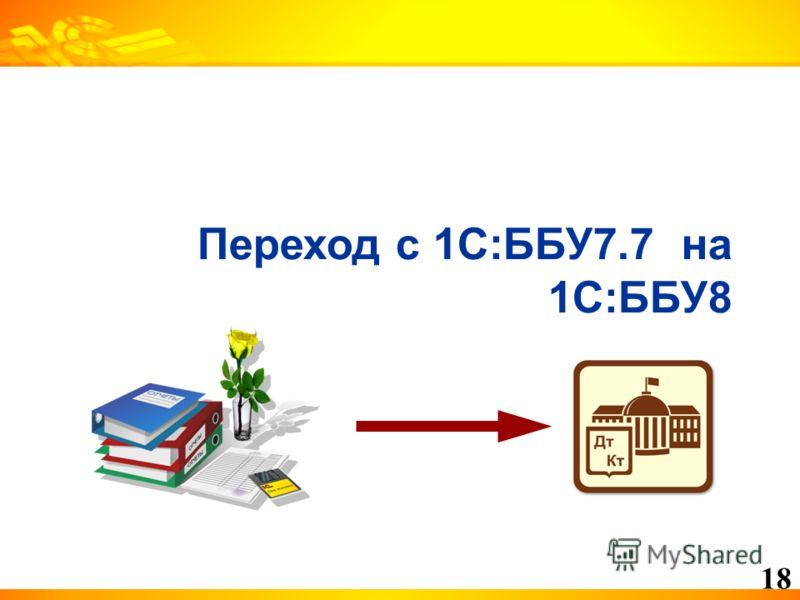 18 Переход с 1С:ББУ7.7 на 1С:ББУ8