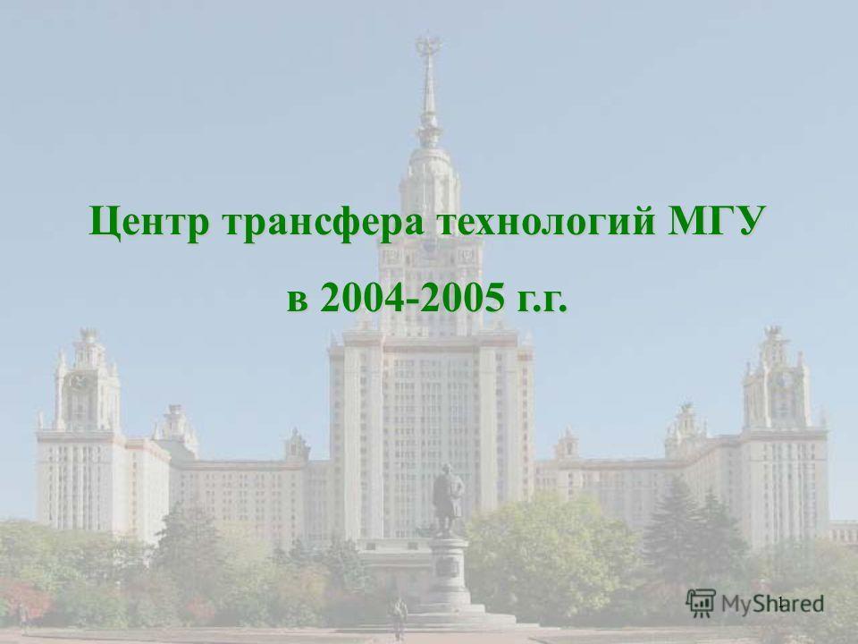 1 Центр трансфера технологий МГУ в 2004-2005 г.г.