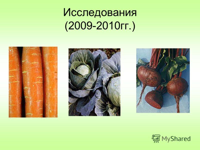 Исследования (2009-2010гг.)