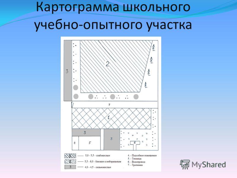 Картограмма школьного учебно-опытного участка