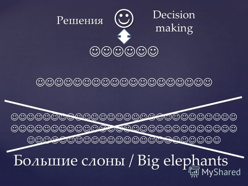 Большие слоны / Big elephants Решения Decision making