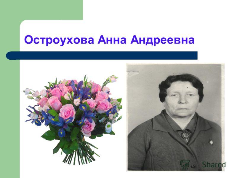 Остроухова Анна Андреевна