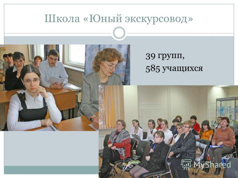 Школа «Юный экскурсовод» 39 групп, 585 учащихся