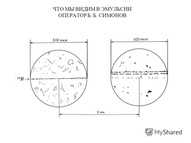 ЧТО МЫ ВИДИМ В ЭМУЛЬСИИ ОПЕРАТОР Б. Б. СИМОНОВ