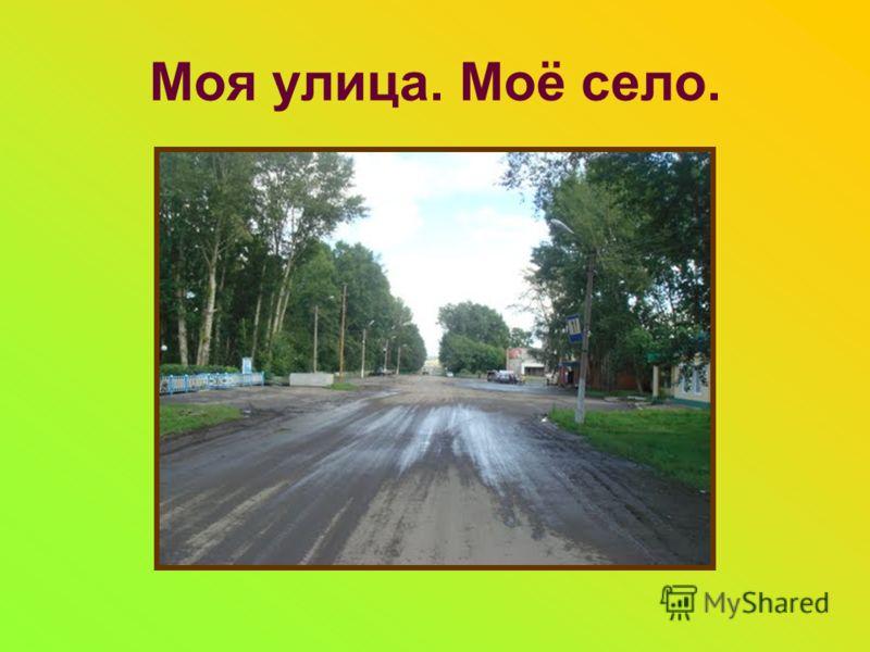 Моя улица. Моё село.