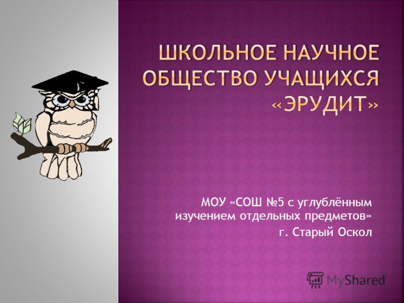 МОУ «СОШ 5 с углублённым изучением отдельных предметов» г. Старый Оскол