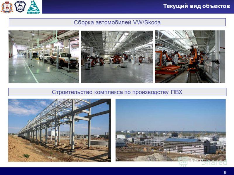 8 Текущий вид объектов Сборка автомобилей VW/Skoda Строительство комплекса по производству ПВХ