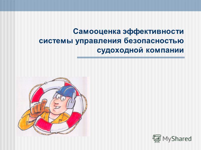 Самооценка эффективности системы управления безопасностью судоходной компании