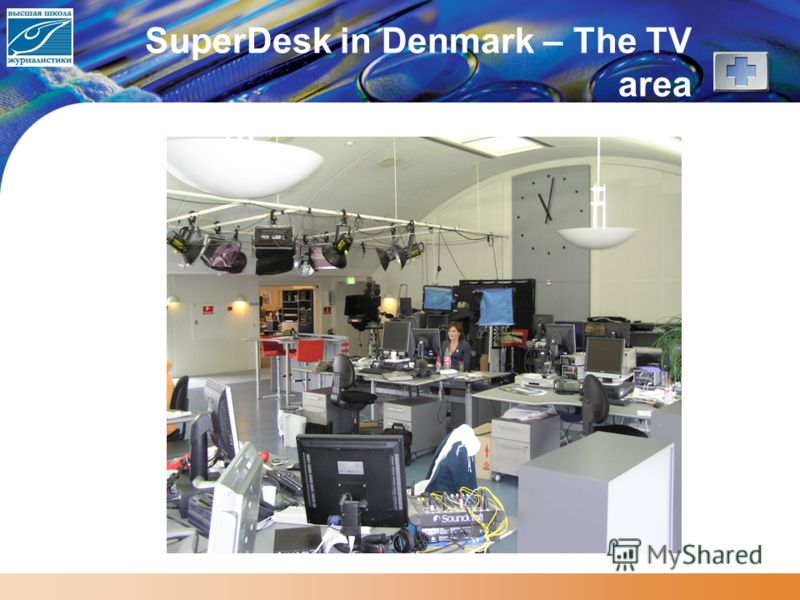 SuperDesk in Denmark – The TV area