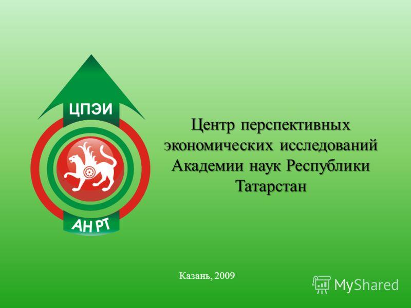Центр перспективных экономических исследований Академии наук Республики Татарстан Казань, 2009
