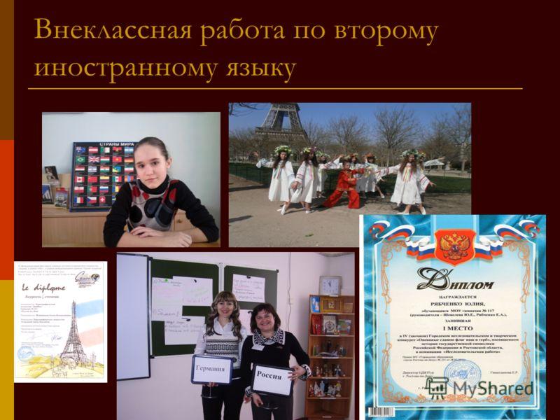 Внеклассная работа по второму иностранному языку