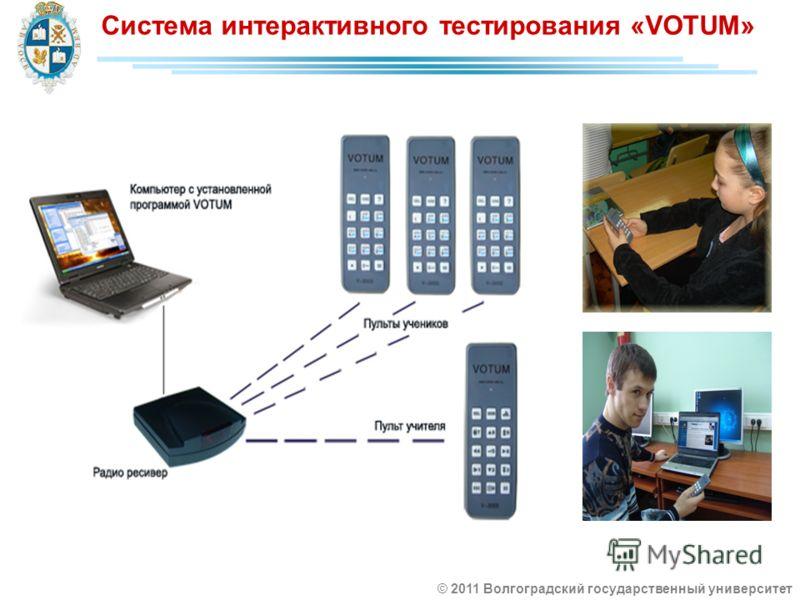 Система интерактивного тестирования «VOTUM» © 2011 Волгоградский государственный университет