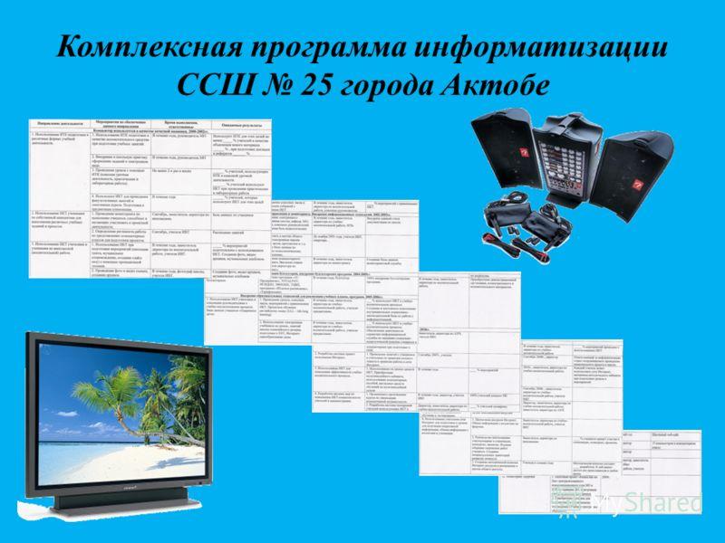 Комплексная программа информатизации ССШ 25 города Актобе