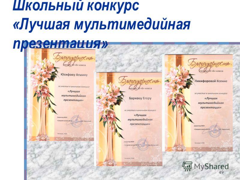 Школьный конкурс «Лучшая мультимедийная презентация» 49