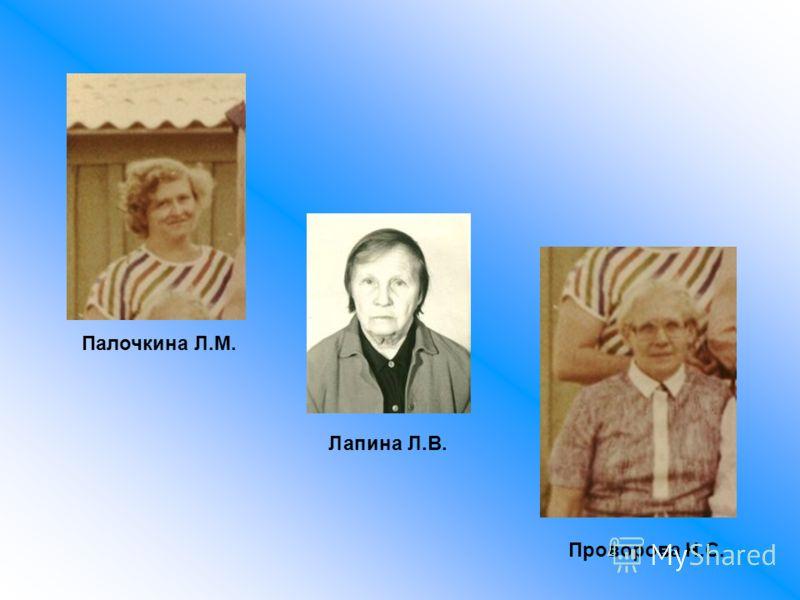 Палочкина Л.М. Лапина Л.В. Проворова Н.С.