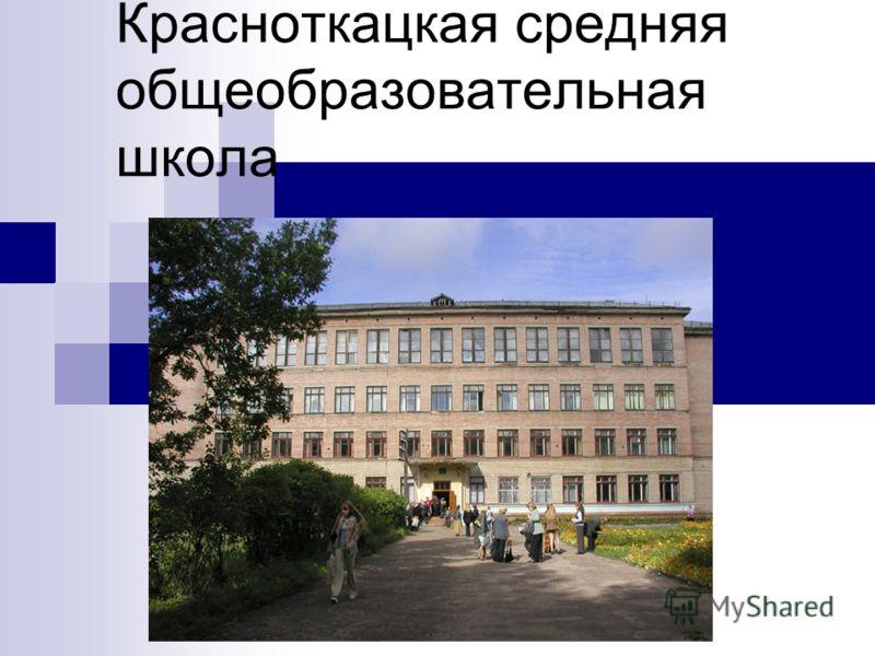Красноткацкая средняя общеобразовательная школа