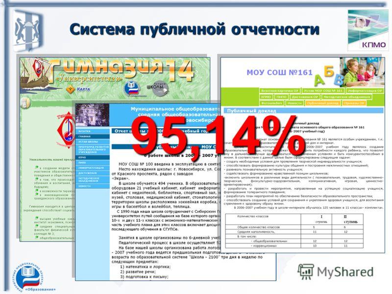 Система публичной отчетности 95,14%