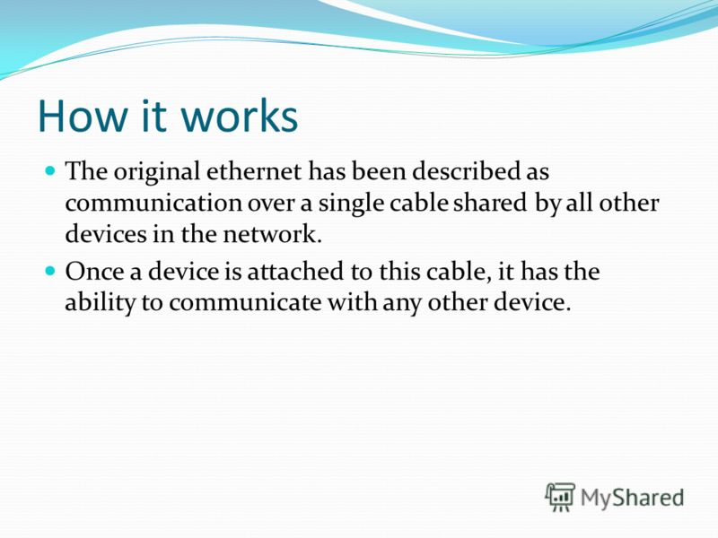 Definition Ethernet is a network of typical communication using either coaxial or twisted pair cable.