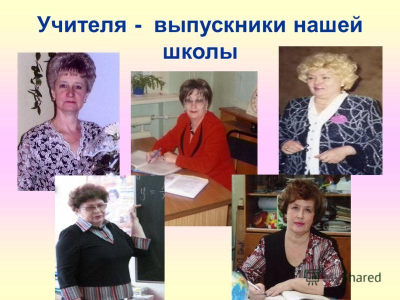 Учителя - выпускники нашей школы