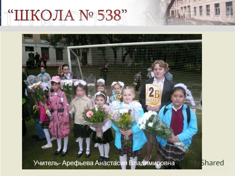 Учитель- Арефьева Анастасия Владимировна