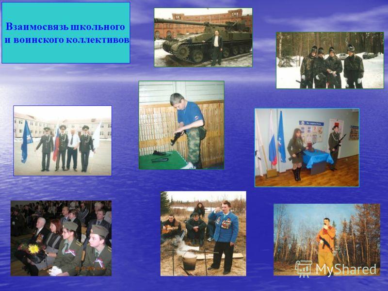 Взаимосвязь школьного и воинского коллективов