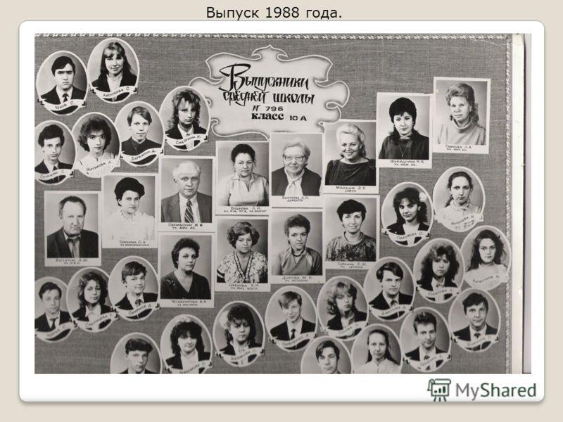 Выпуск 1988 года.