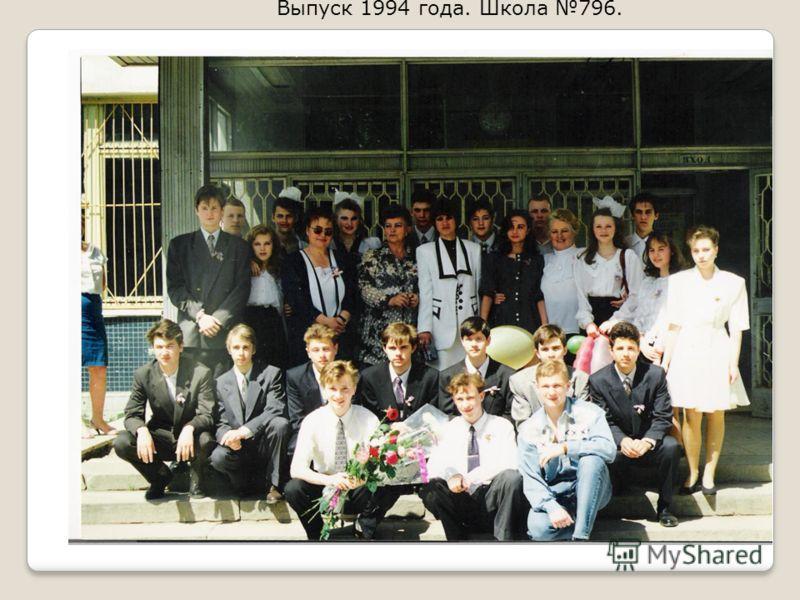 Выпуск 1994 года. Школа 796.