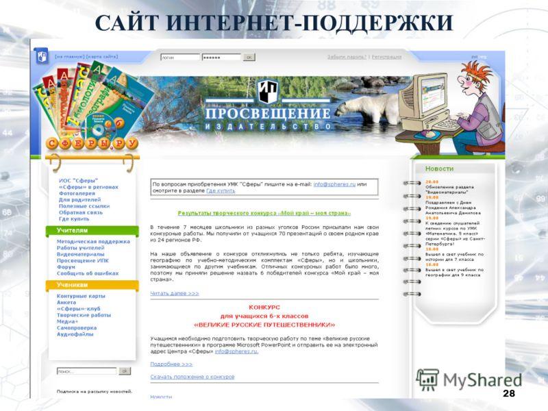 САЙТ ИНТЕРНЕТ-ПОДДЕРЖКИ 28