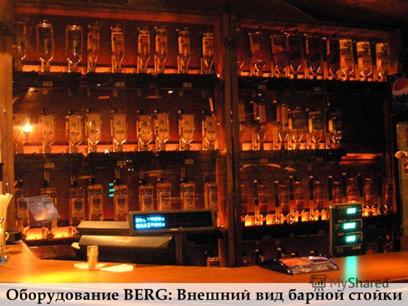 Оборудование BERG: Внешний вид барной стойки
