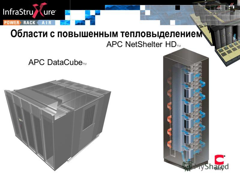 Области с повышенным тепловыделением APC DataCube TM APC NetShelter HD TM