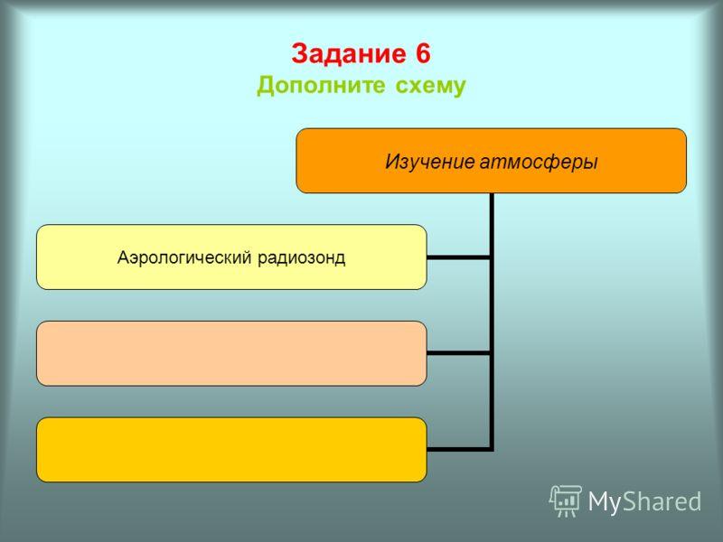 Задание 5 Заполните таблицу Название слоя атмосферы Основные особенности слоя Мощность слоя 1. 2. 3.