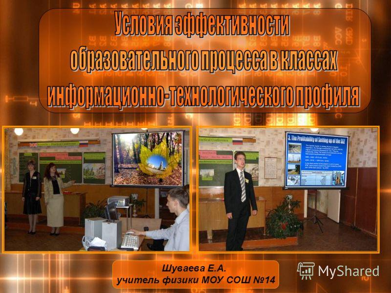 Шуваева Е.А. учитель физики МОУ СОШ 14