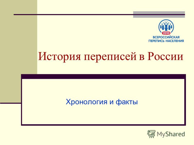 История переписей в России Хронология и факты